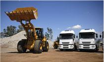 truck and machinery